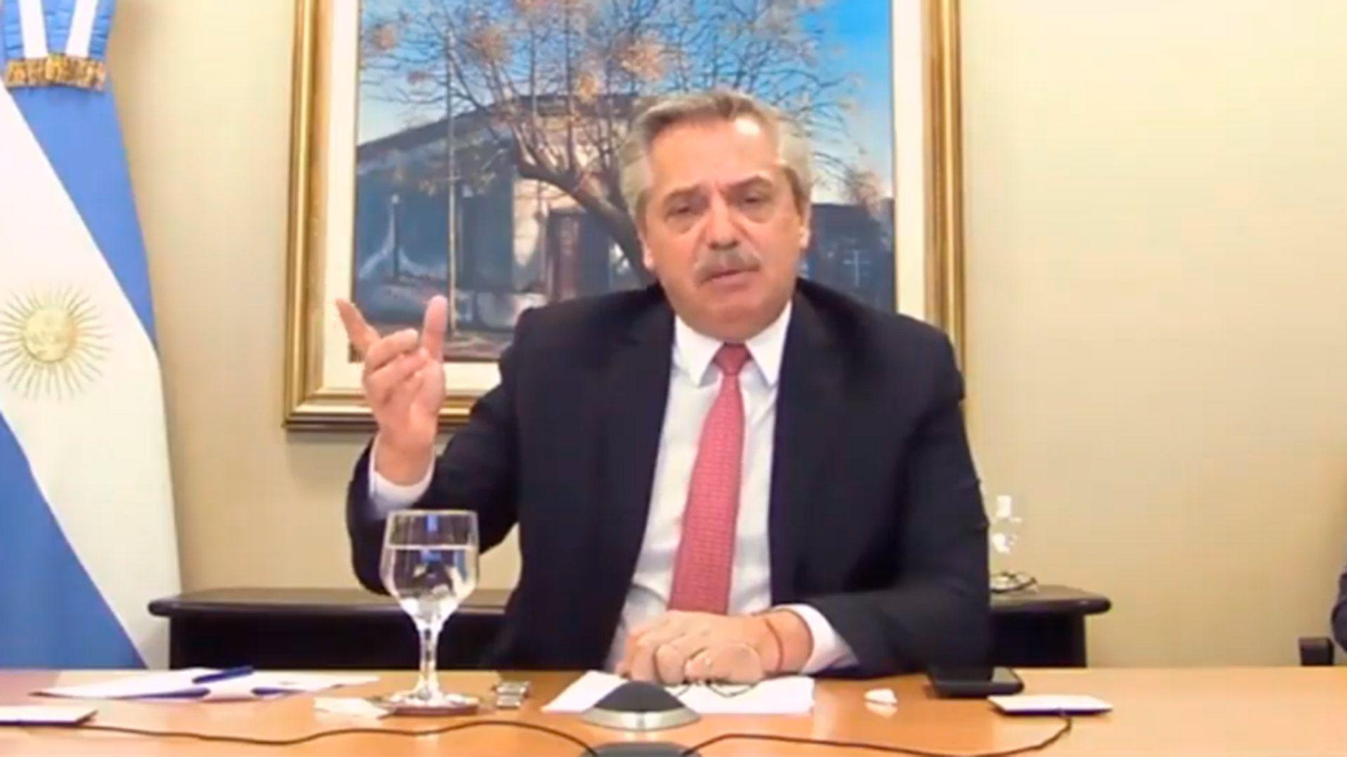 """Alberto Fernández: """"Lo que más necesita la Argentina es inversión, producción y trabajo"""""""