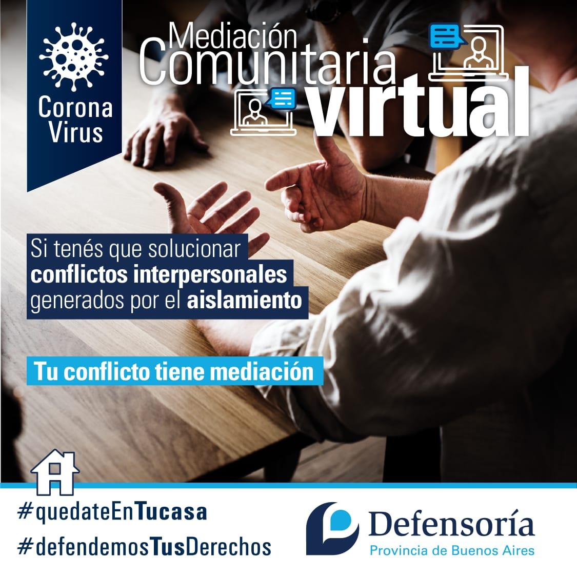 La Defensoría lanza el servicio de mediación comunitaria virtual