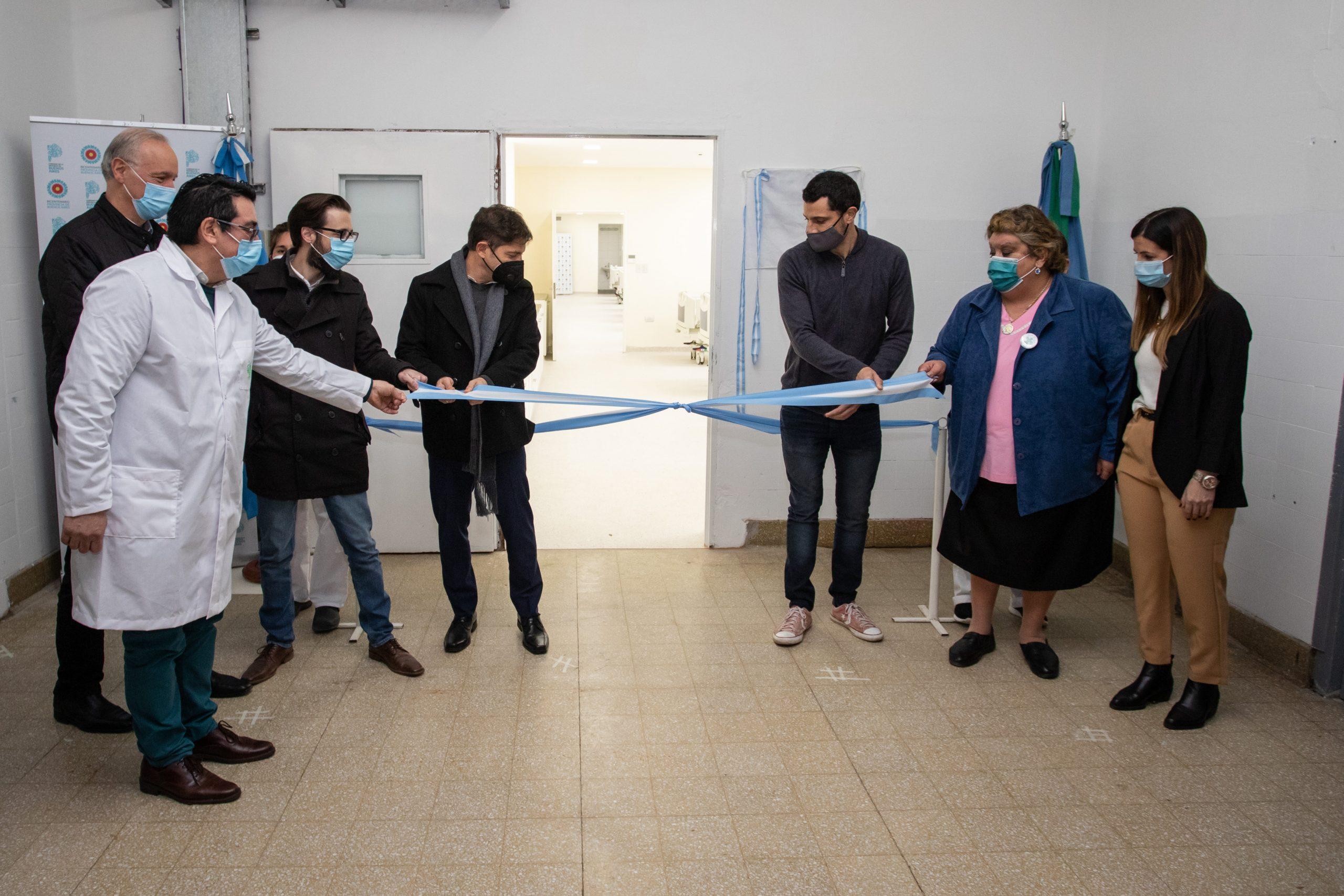 Kicillof participó de la inauguración de la terapia intensiva del Hospital Provincial Vicente López y Planes