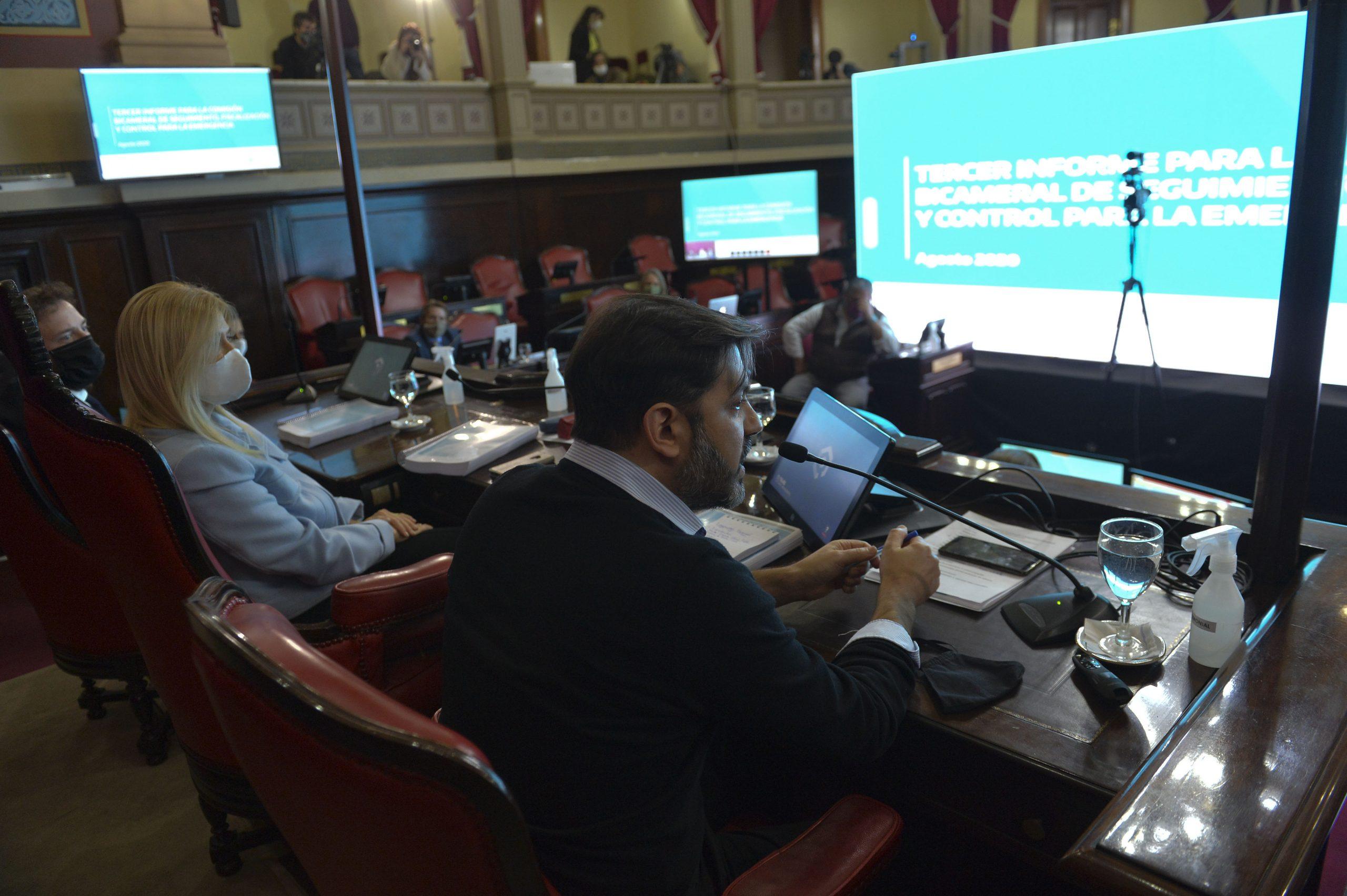 El Jefe de Gabinete presentó el tercer informe ante la Comisión Bicameral de la Legislatura