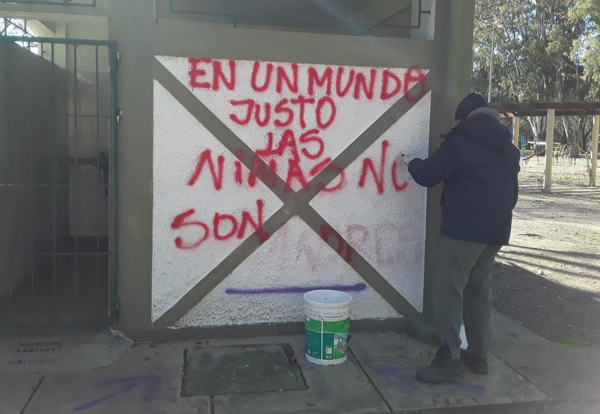 Actos de vandalismo en el Parque Municipal
