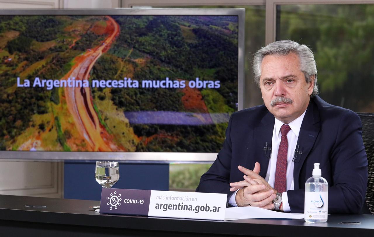 El Presidente anunció la ejecución de obras para Buenos Aires, Entre Ríos, Corrientes, San Juan y Santa Cruz