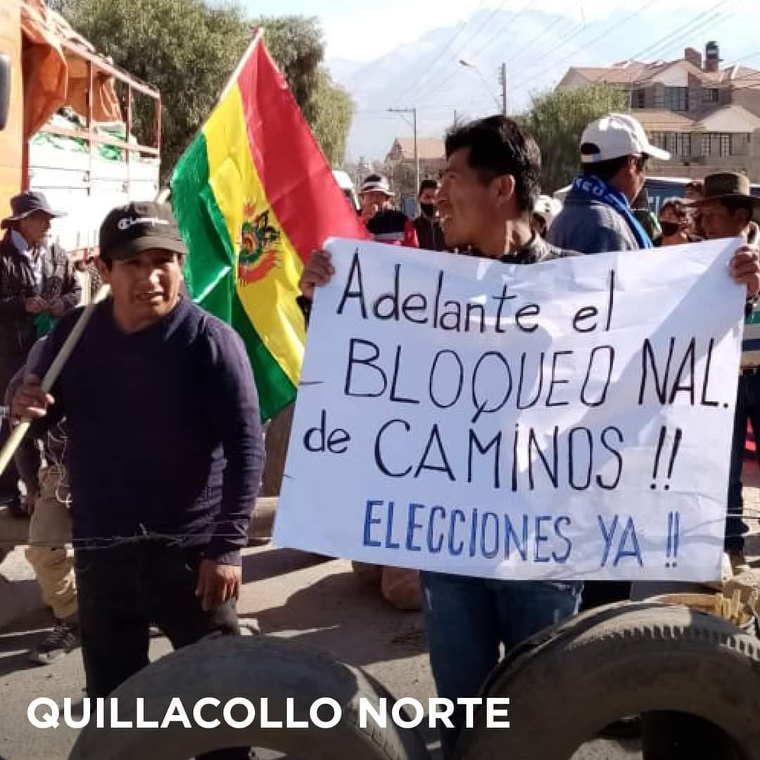 Bolivia movilizada con carreteras bloqueadas y con paro indefinido en defensa de la democracia