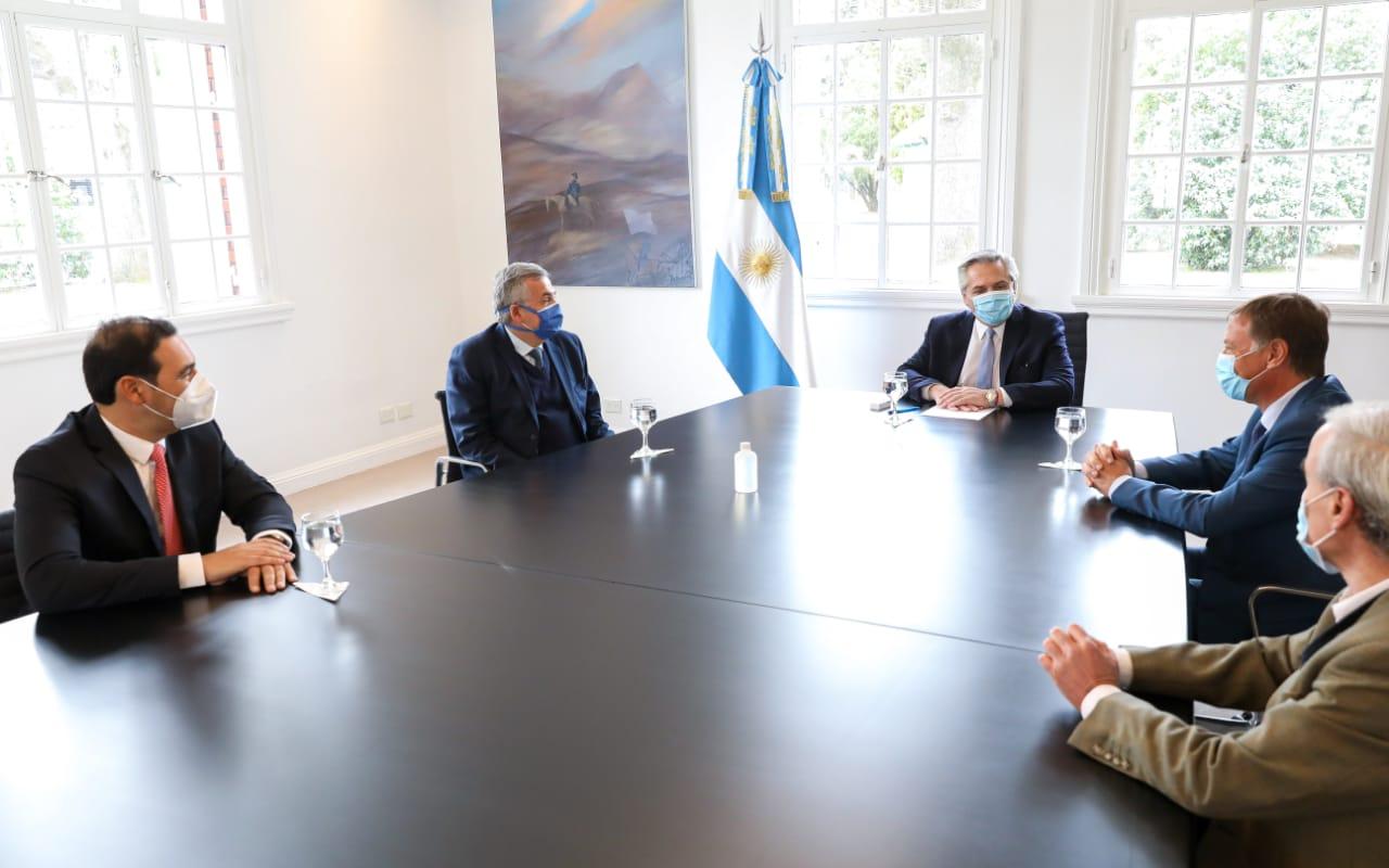 Coronavirus: El Presidente se reunió con los gobernadores de Jujuy, Mendoza y Corrientes