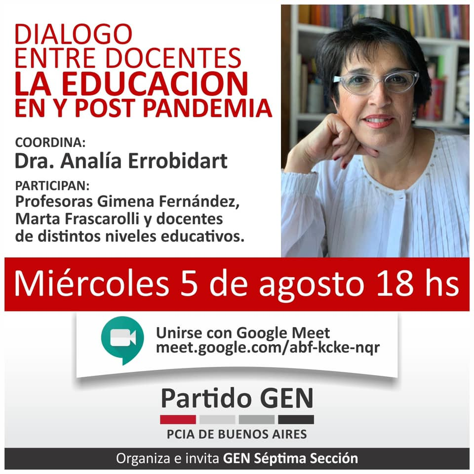 La educación en y post pandemia: diálogo entre docentes