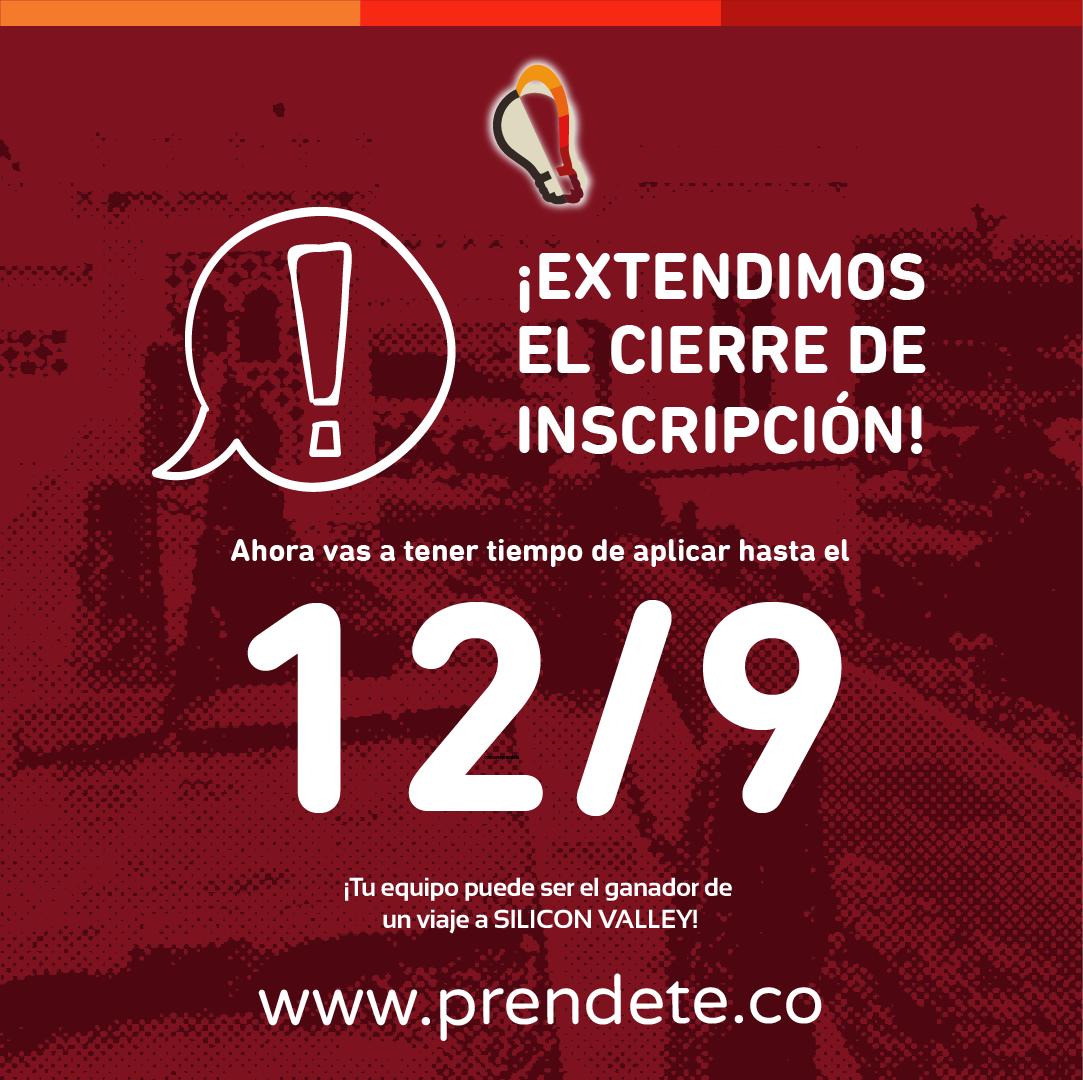 Hasta el 12 de septiembre se extiende la inscripción al concurso Prendete