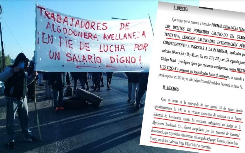 Algodonera Avellaneda: durante un conflicto laboral atropellaron a dos trabajadoras