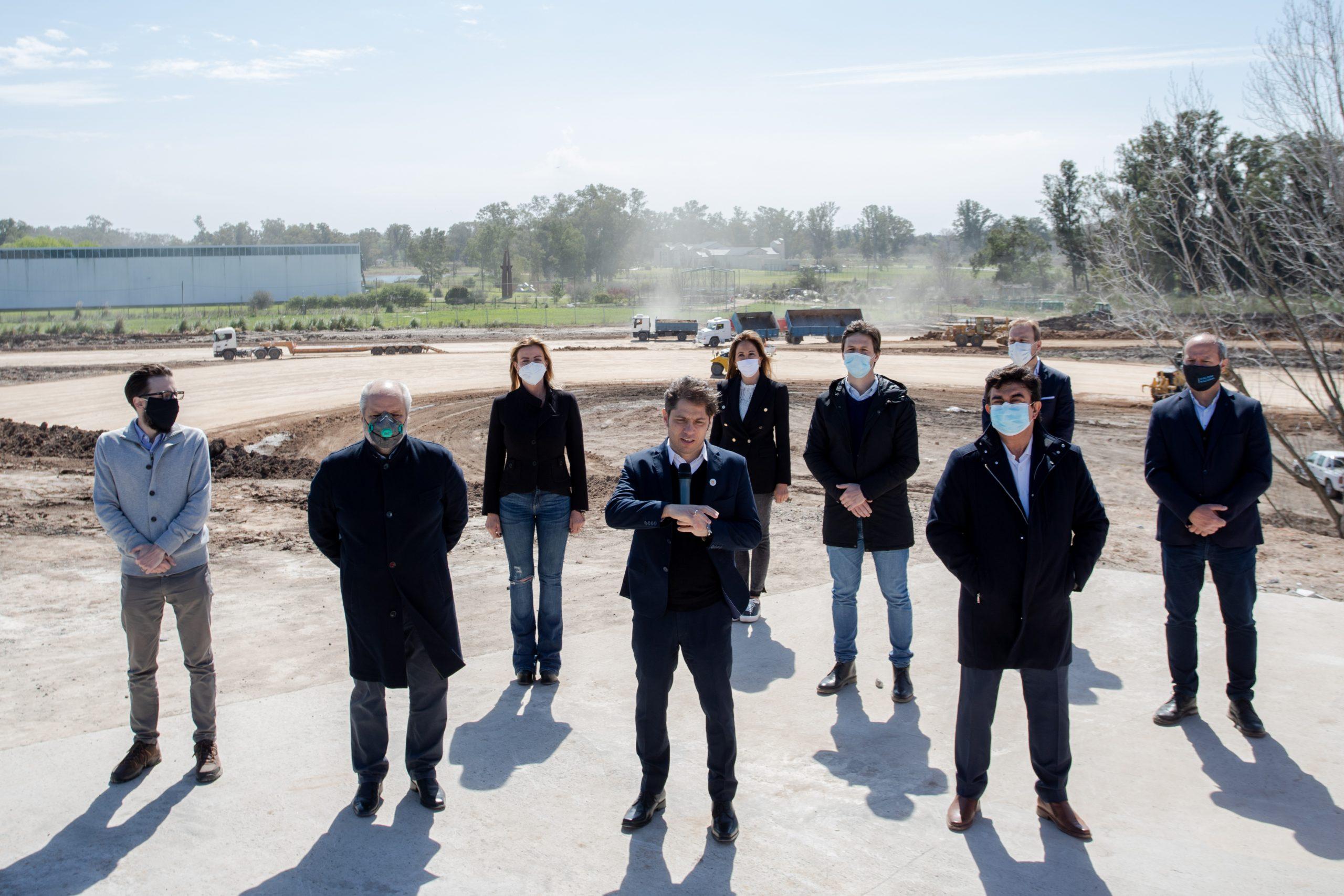 Kicillof participó del anuncio nacional de reactivación de obras públicas