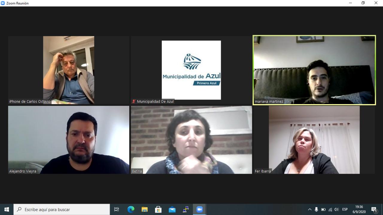 Reunión virtual entre autoridades de las áreas de Salud y Gobierno
