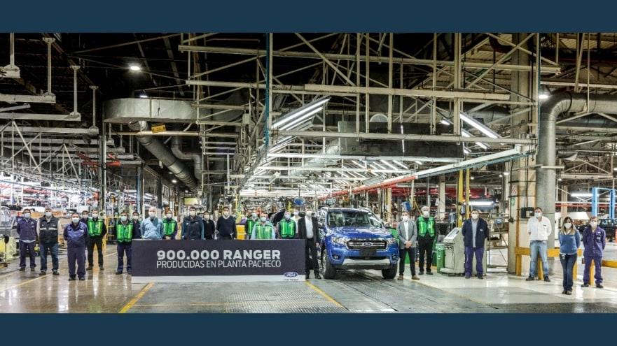 Ford Argentina celebra la producción de la Ranger 900.000 en planta pacheco