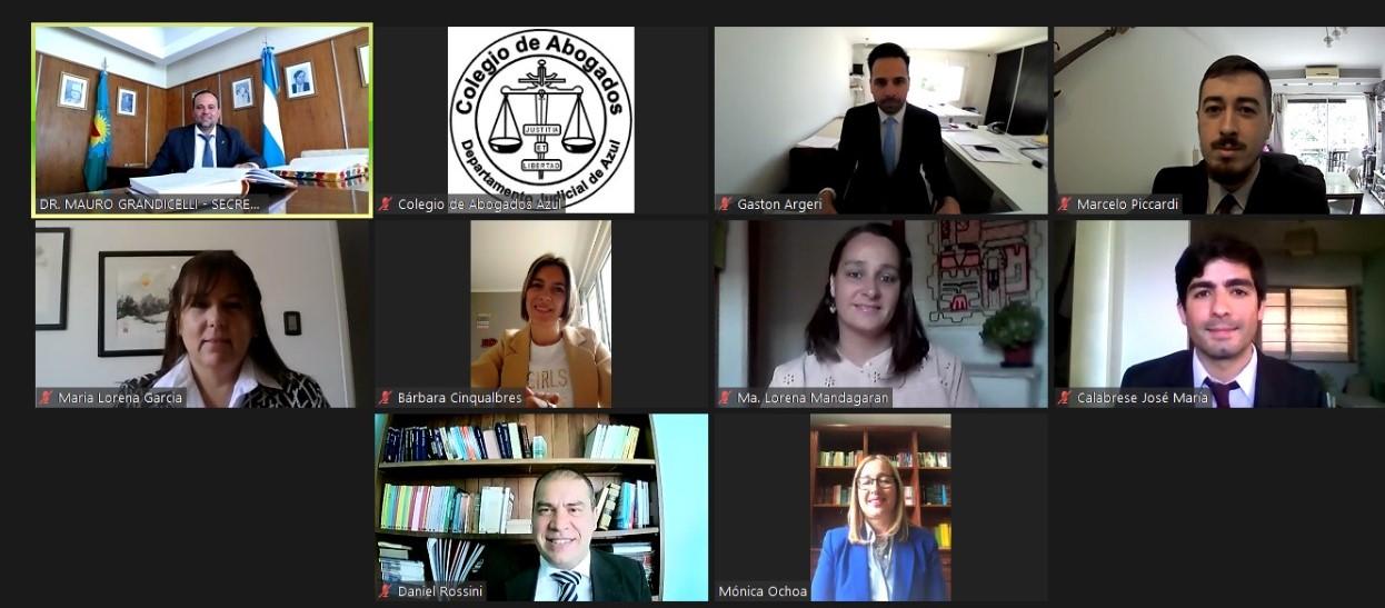 Tercera jura virtual del Colegio de Abogados Departamental