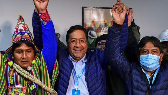 """""""Bolivia ha recuperado la democracia"""", dice Luis Arce tras ganar la Presidencia y promete un gobierno de """"unidad nacional"""""""