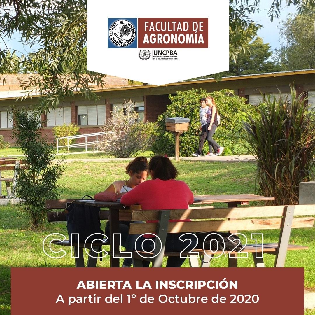 Agronomía: esta abierta la Inscripción para el Ingreso 2021