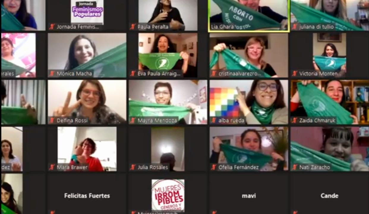 """Multitudinaria Jornada virtual """"Feminismos Populares"""" del Frente de Todos"""