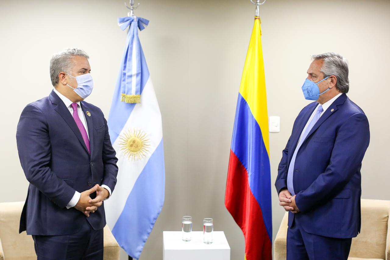 El presidente mantuvo una reunión bilateral con su par de Colombia, Iván Duque