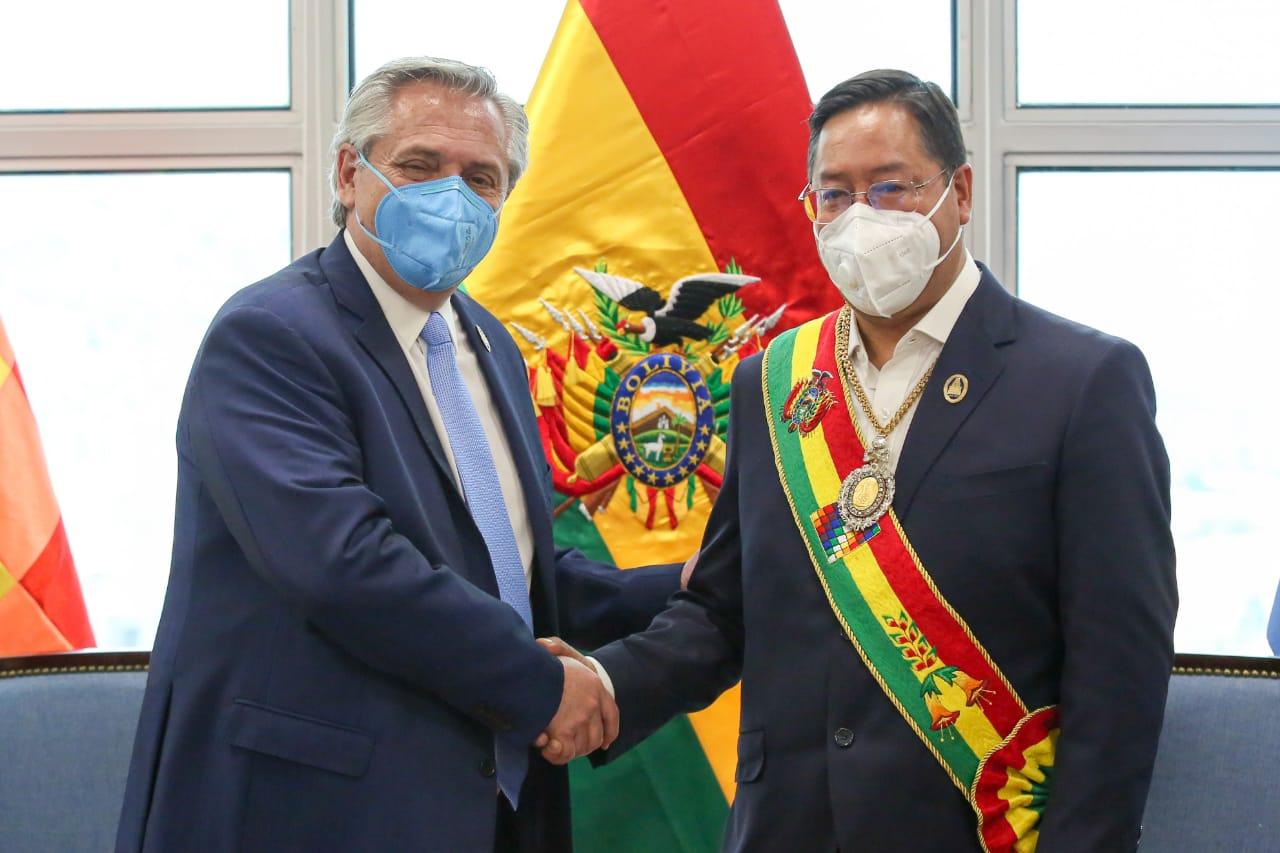 El Presidente mantuvo una reunión bilateral con su par de Bolivia, Luis Arce