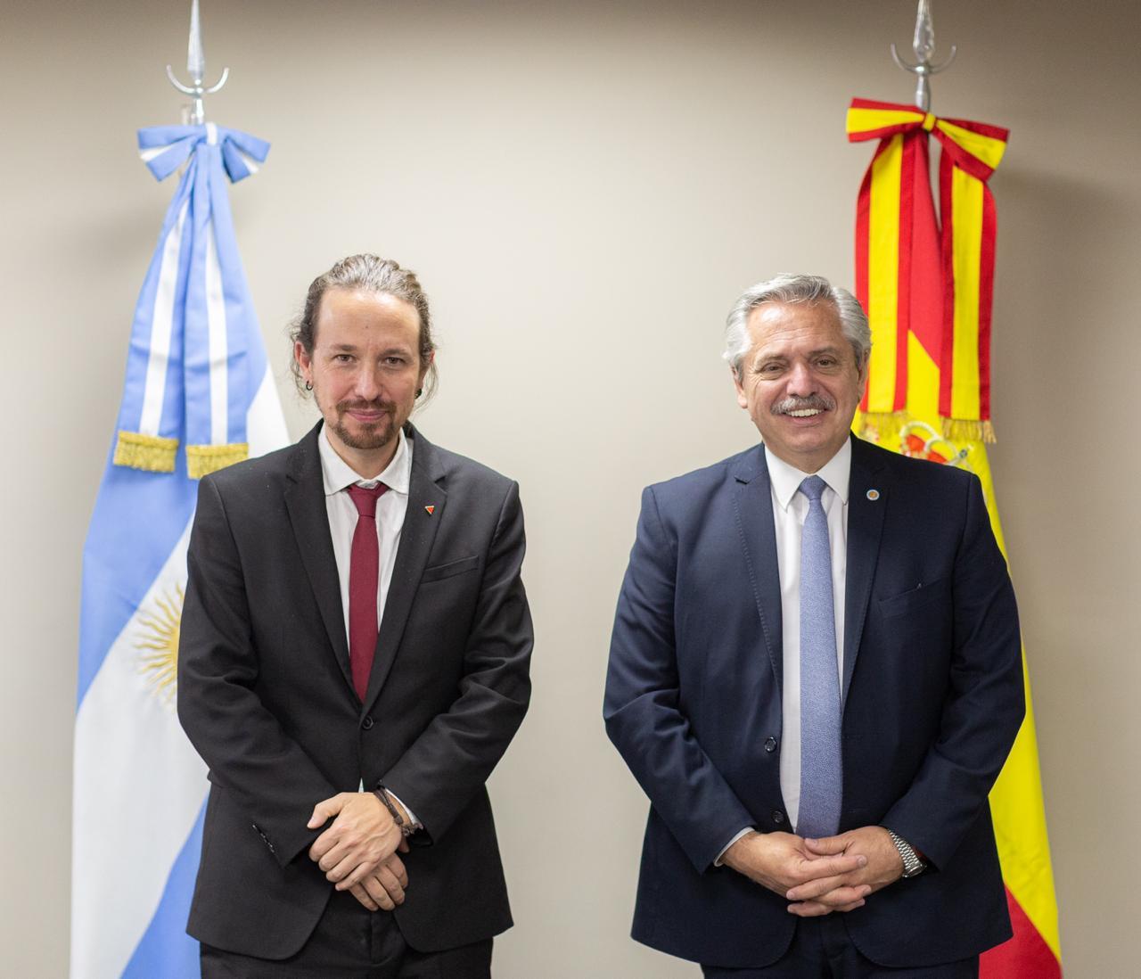 Encuentro bilateral con el vicepresidente de España, Pablo Iglesias