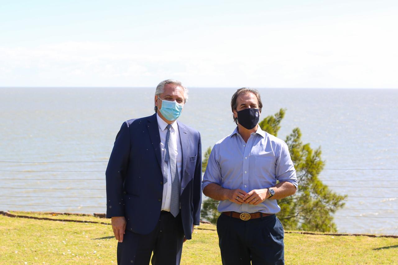 El Presidente mantuvo un almuerzo de trabajo con su par uruguayo, Luis Lacalle Pou, en la residencia presidencial de Parque Anchorena