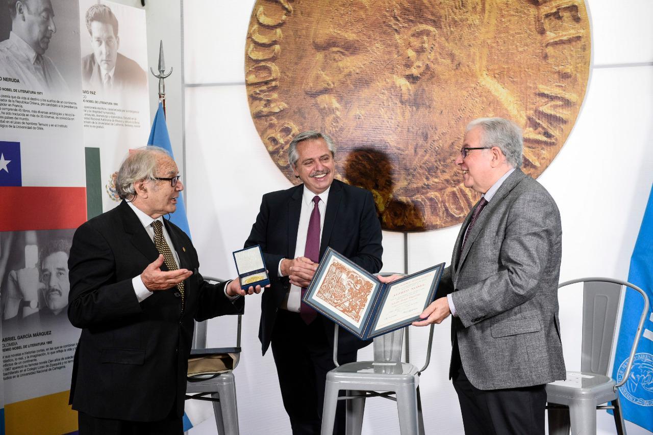 El Presidente inauguró la Casa de los Premios Nobel Latinoamericanos