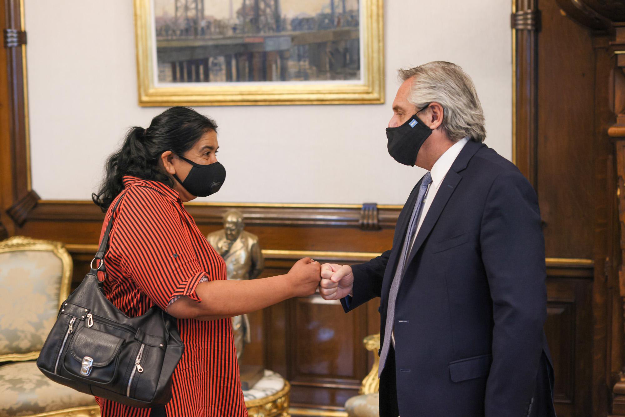 El Presidente se reunió con Margarita Barrientos