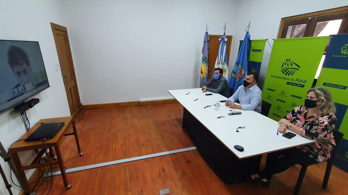 Reunión virtual entre Bertellys y Kicillof