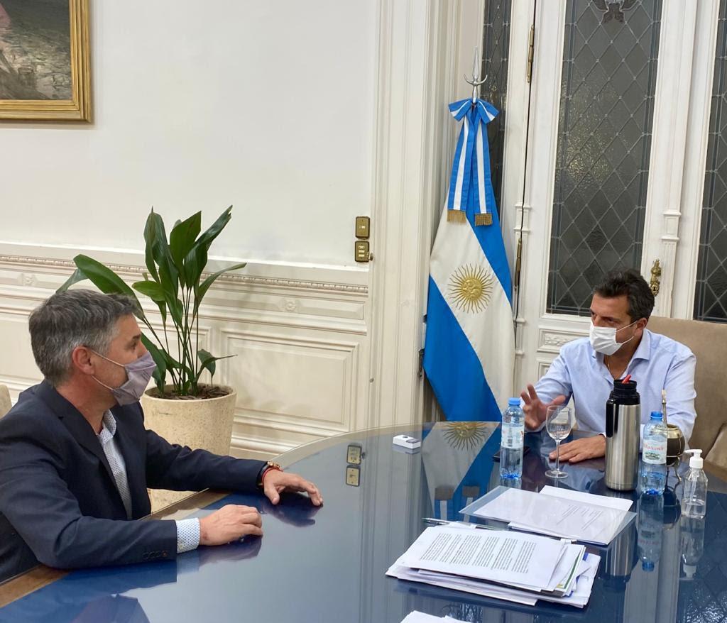 Encuentro entre Sergio Massa y Walter Martello en el Congreso Nacional