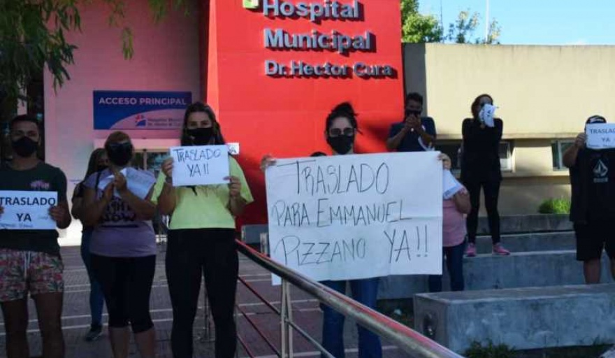 Piden el traslado de un joven que lleva 90 días internado en el hospital municipal de Olavarría