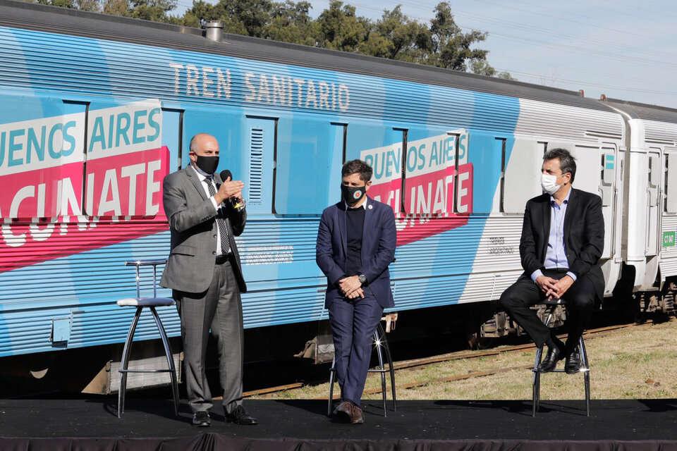 El tren sanitario de provincia estará en Cacharí y Azul