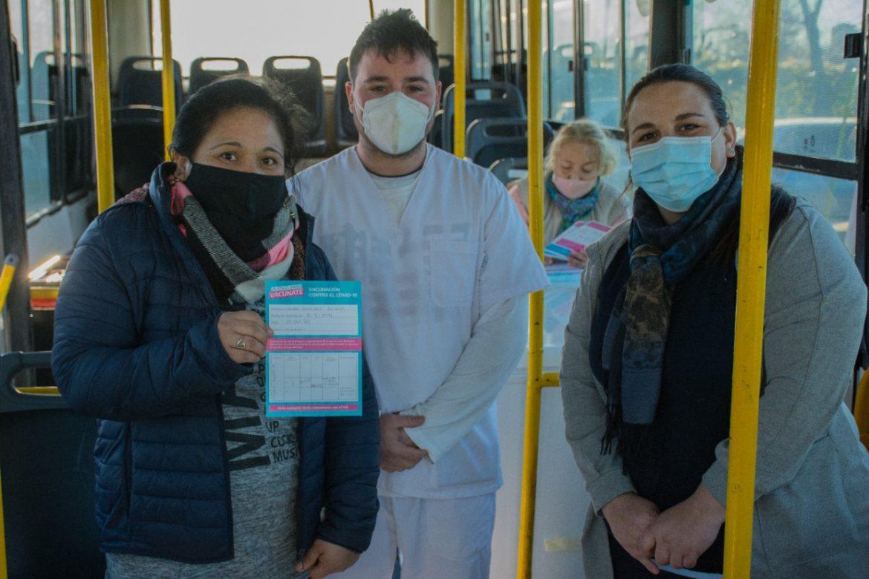 Más de 40 vecinxs vacunadxs en la posta itinerante