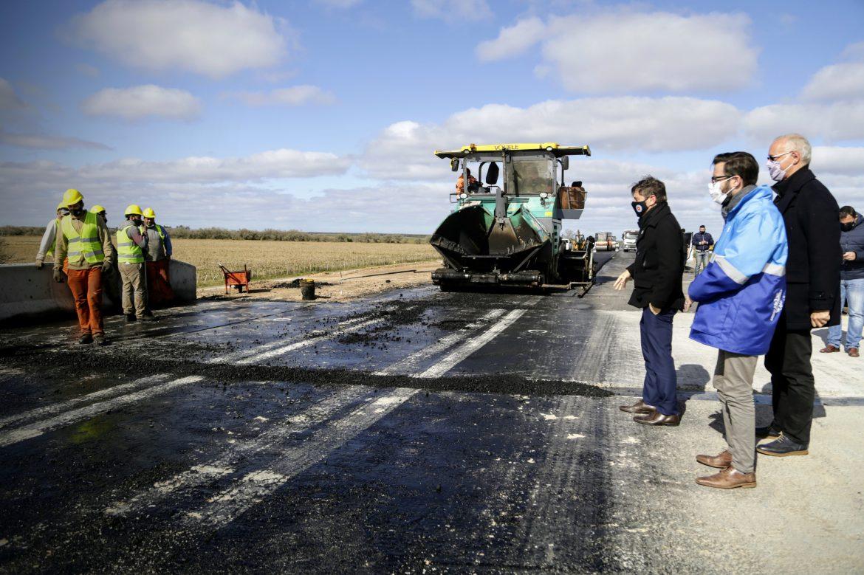Se inauguró un nuevo tramo de la autovía en la ruta 11