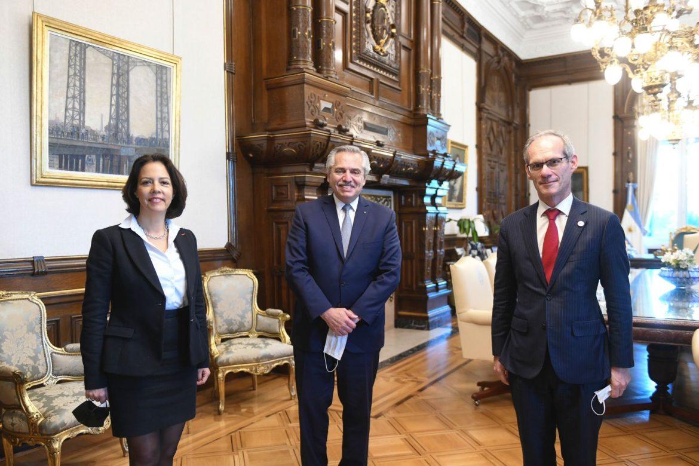 El Presidente recibió a autoridades de TotalEnergies, con quienes analizó el desarrollo de la firma en el país